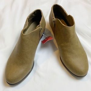Mossimo Supply Co. faux leather ankle booties
